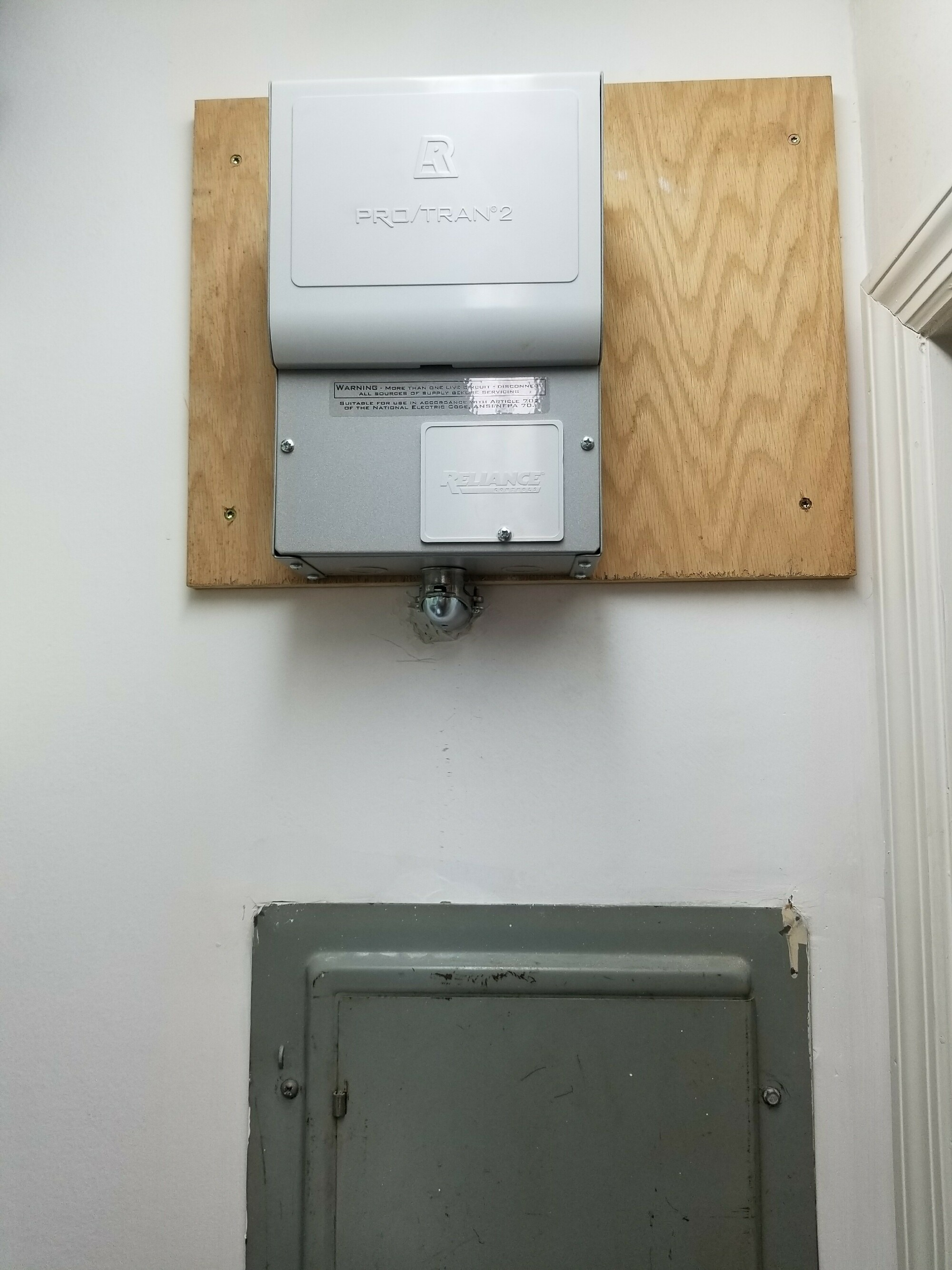 Generator transfer switch (installed, room, cost, electrical