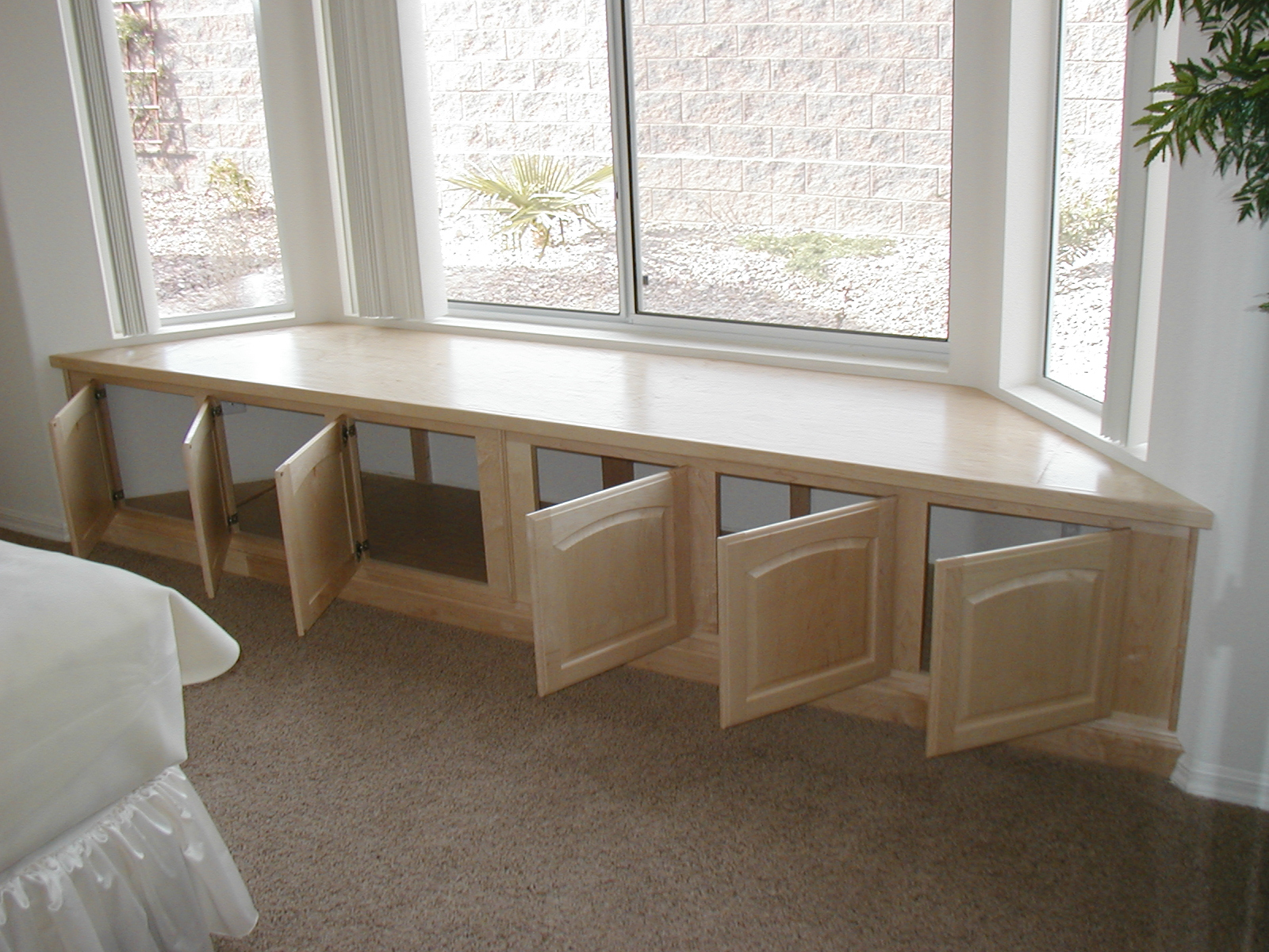 window seat maple natural window seat bedroom