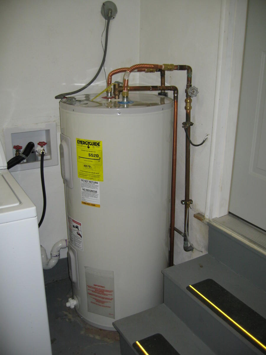 Water Tank Installation : Hot water tank installation drain insulation plumber