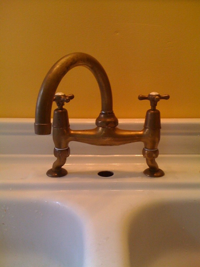 Antique faucet repair (opener, washers, installed, kitchen) - House ...