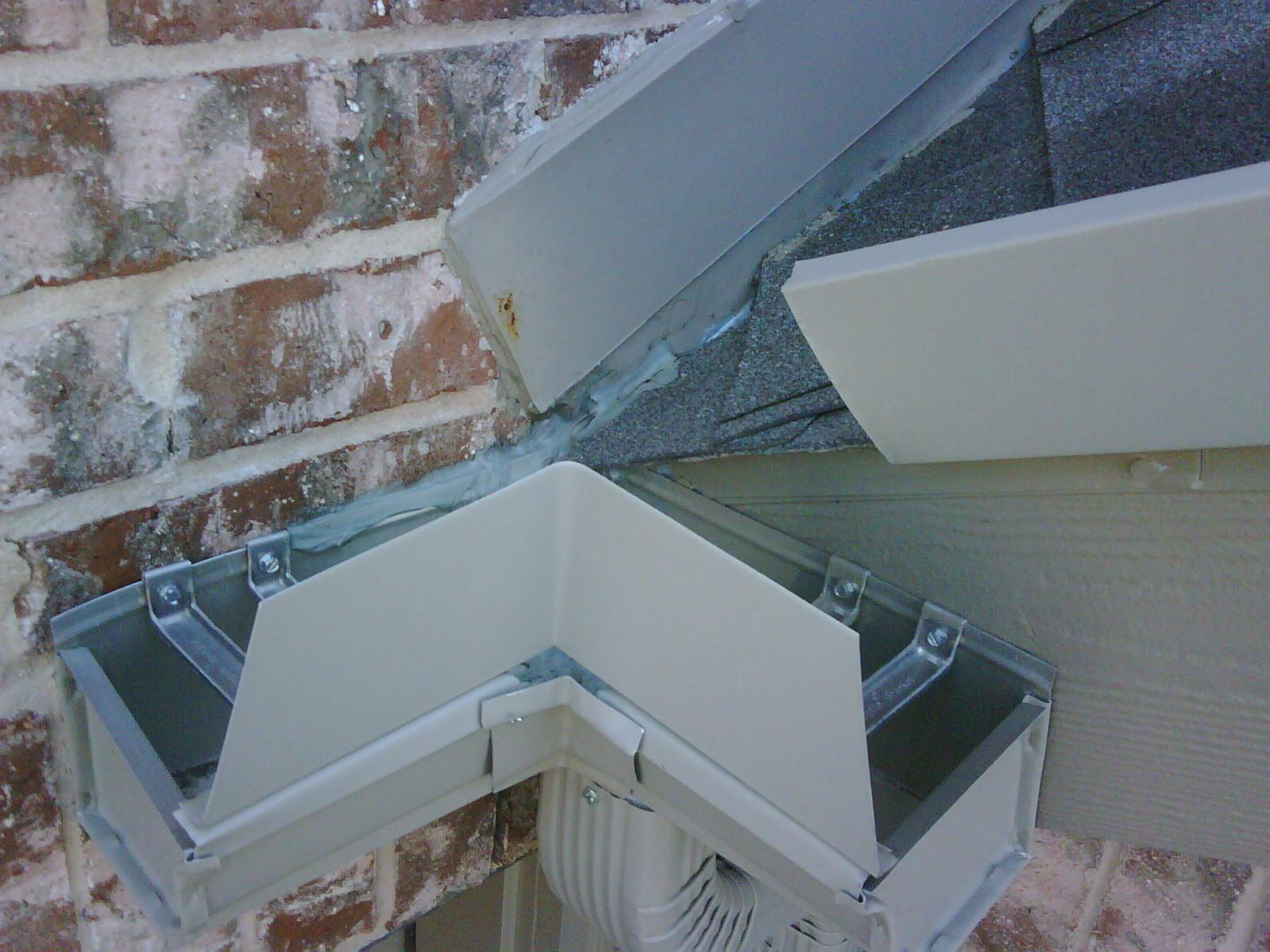Roof/wall/flashing Gutter Interface Problem (w/ Pics) Gutter_above. ...