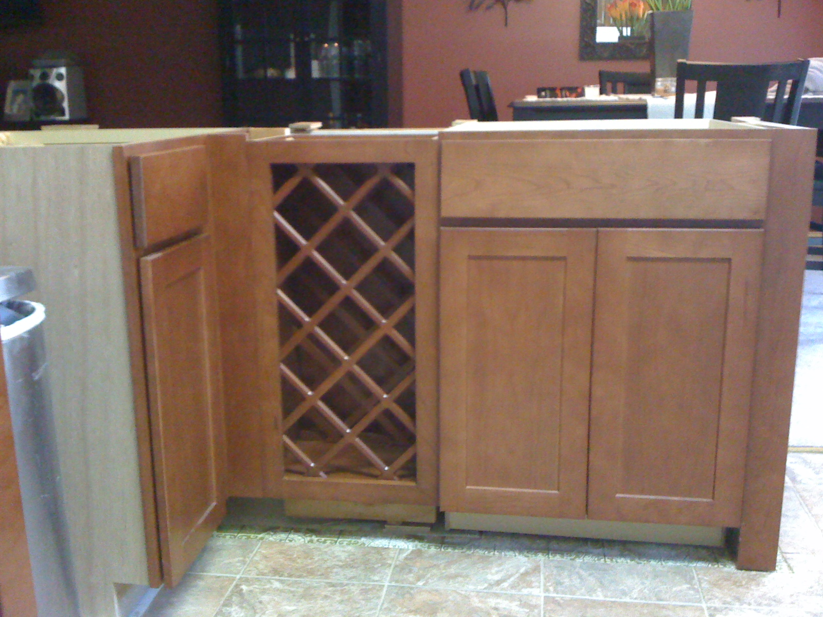 ... Installing 30 Inch Base Wine Rack Next To Base Cabinets Img_0166