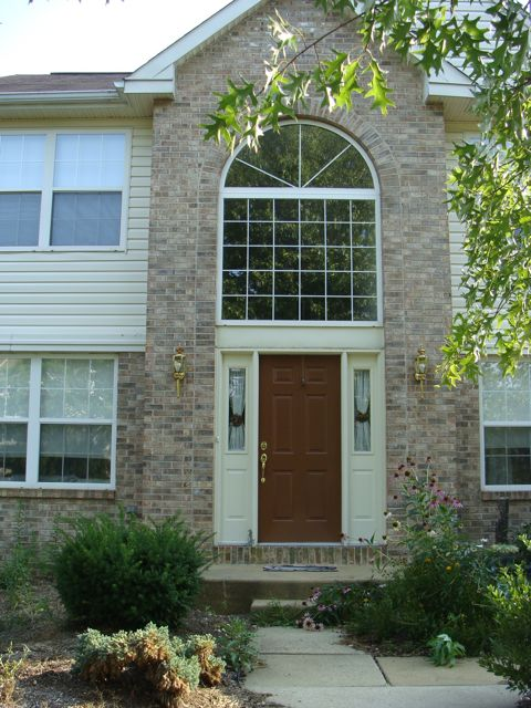 Installing A Front Portico Roofing Window Color