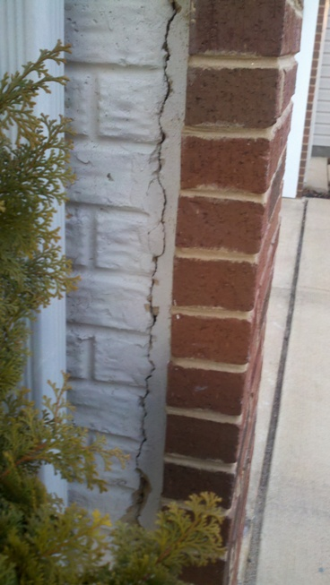 A crack on the wall of the townhouse, how serious is it? (vinyl ...