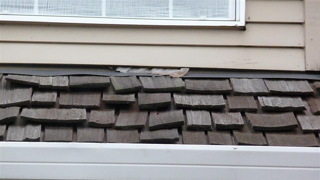 ... Water Leaking Through Cedar Shake Roof P1020525 Custom