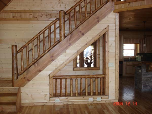 open basement stairs. open entry to basement mtn high option jpg  floor window heating railing House