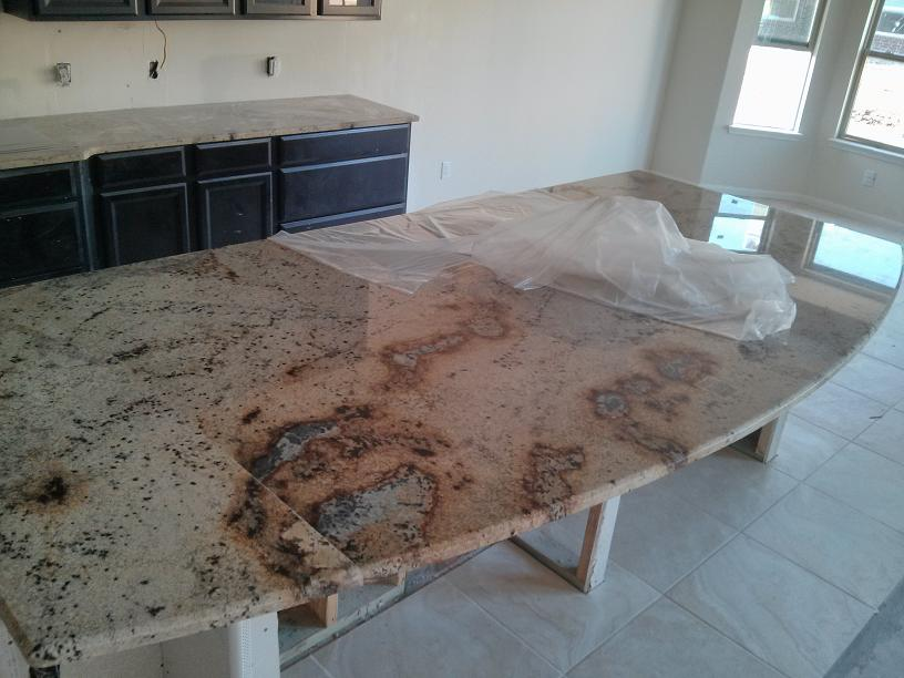 Granite Data Center : New home horrible granite slab center west countertops