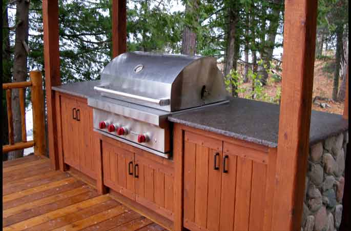 Outdoor Kitchen Build Grill Cabinet F75 Easylovely Home
