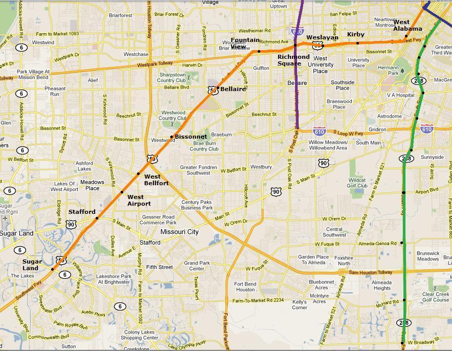 Houston Metro 1980s Heavy Rail Plan Missouri City Katy