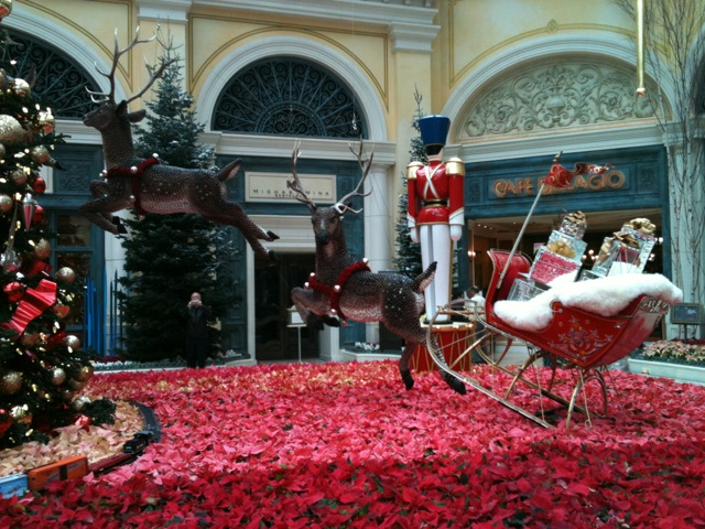 christmas decorations at the casinos bellagiochristmas1njpg - Las Vegas Christmas Decorations