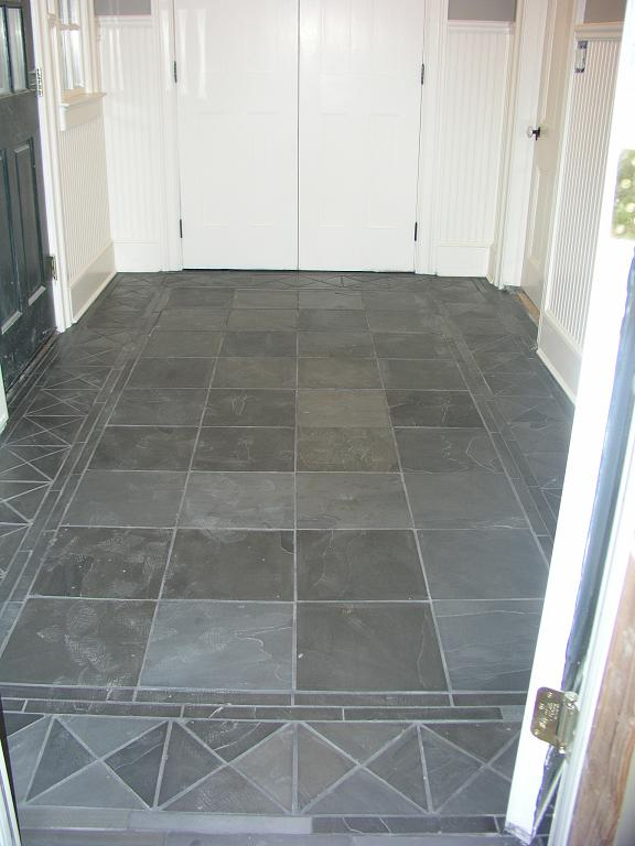 Slate kitchen flooring afreakatheart Mudroom floor