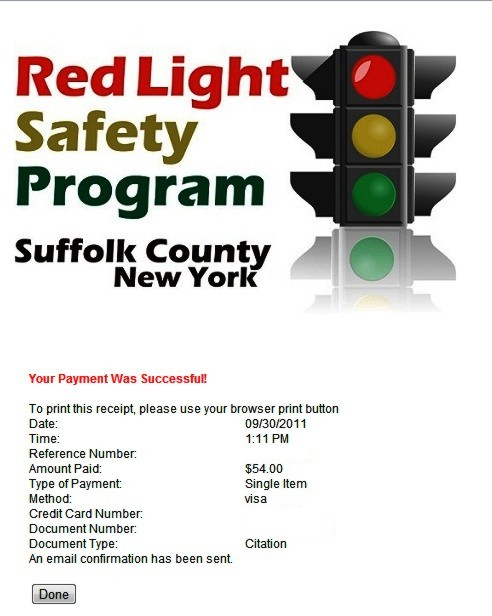 View Red Light Camera Ticket Suffolk County Collections