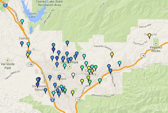 Bad Areas Of Los Angeles Map.Where Are The Safe Areas In Santa Clarita Newhall Los Angeles