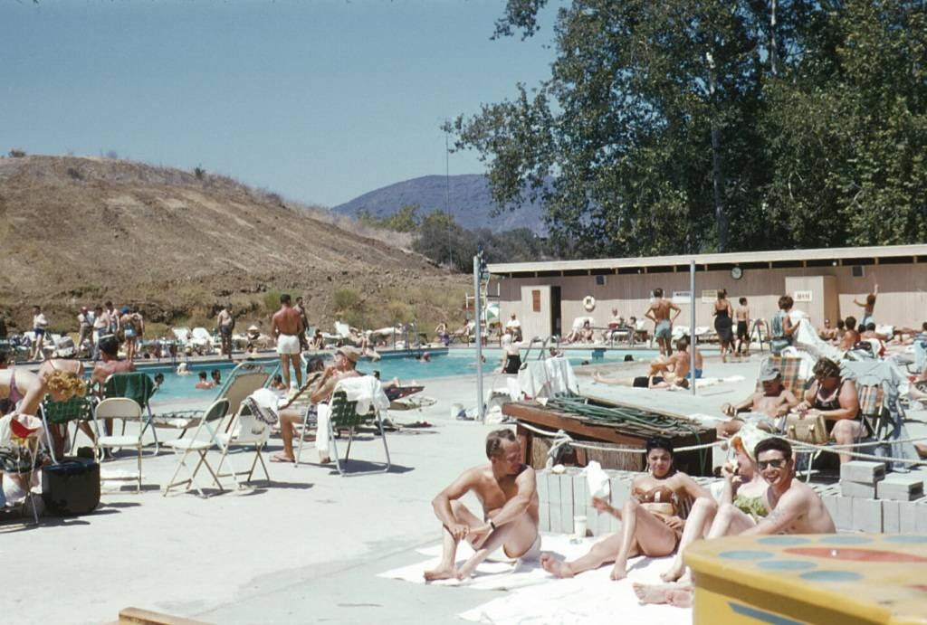 Nostalgia san fernando empire rainbow swimming pool for Hansen dam fishing