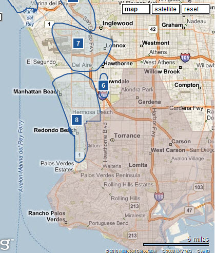 Parking for hotel in Redondo Beach versus Long Beach hotels