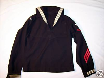 USN uniform dress jumper with red stripes? (enlisted, showing, retired ...