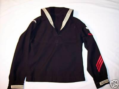 USN uniform dress jumper with red stripes? (enlisted, showing, retired ...