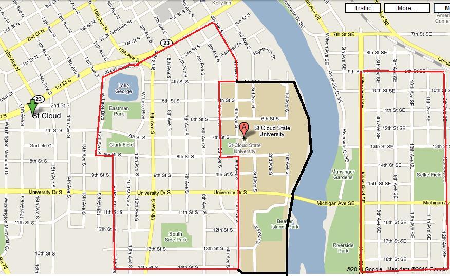 St Cloud Campus Map.St Cloud State University Campus Map Cloud Images