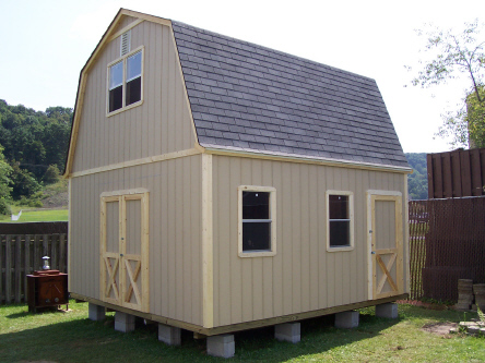 Best place to live off grid in a tiny house cabin with no for Two story shed plans free