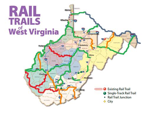 Fayette County PA Building Hiking Biking Trail To Connect To Mon - Wv map with cities and counties