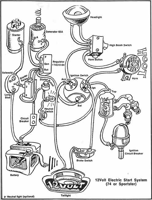 1974 Harley Sportster XLH Generator Light ALWAYS ON (ride ... on harley sportster wire schematics, wico x magneto diagram, lincoln sa-200 parts diagram, electric generator diagram, harley-davidson electrical diagram, 1980 harley-davidson carburetor diagram, harley electrical system on lamp, harley flh starter solenoid diagram, harley shovelhead wiring, panhead harley generator diagram, how does a generator work diagram, hd sportster xlch generator diagram, simple generator connection diagram, whole home generator installation diagram, simple ac generator diagram, harley knucklehead motor diagram, harley generator cover, onan 4000 generator carburetor diagram,