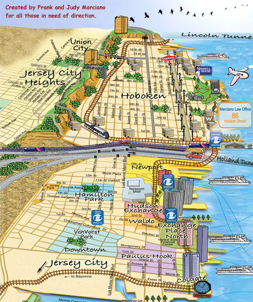 Jersey City Or Hoboken With Dog Newark Madison Fit In - Jersey city map
