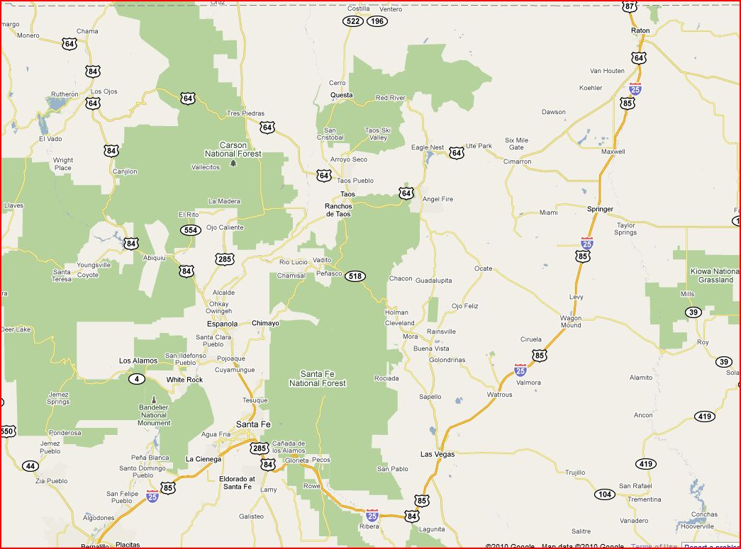 I39ve Attached A Map Of An Area In NM I Am Visiting Tell