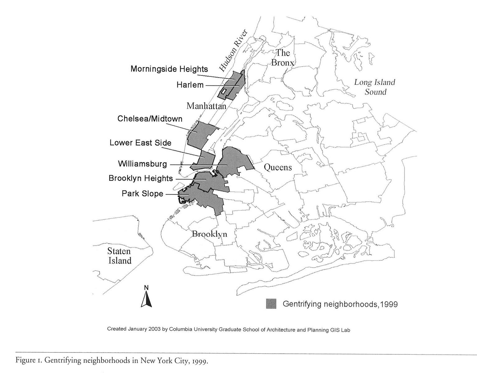 Un-gentrified areas of NYC??? (New York, Red Hook: school, taxi, bus