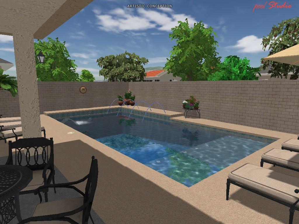 My turn pool build hoa houses tile phoenix area for Build my pool