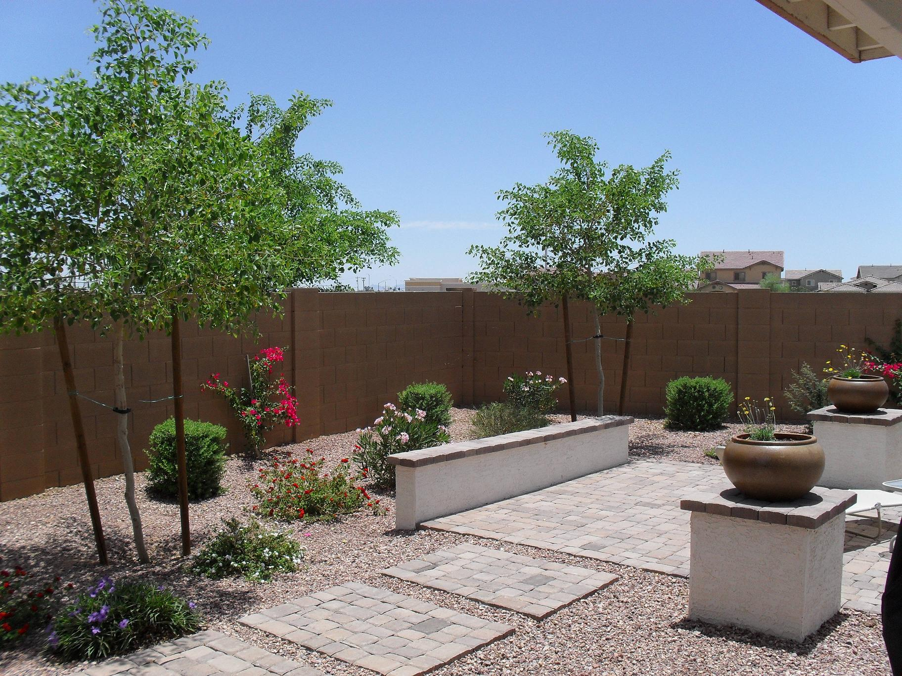 Cinder block fencing phoenix area arizona az page for Backyard mural ideas