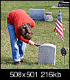 Photos of American Flag-alex-cleaning-ggg-grandfathers-headstone..jpg