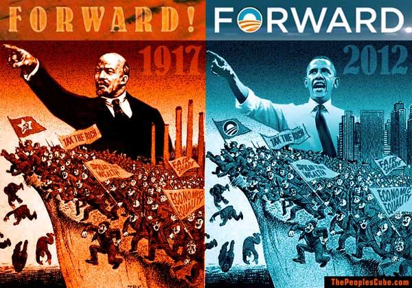 obama communistforward poster