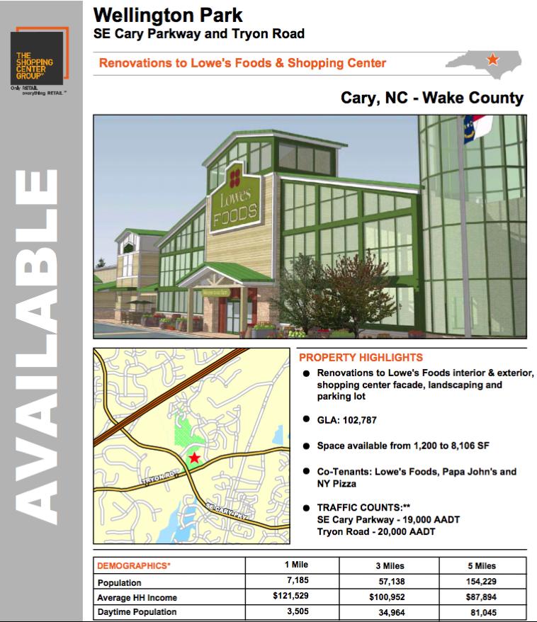 Cary 39 S Wellington Park Lowe 39 S Foods Renovations New