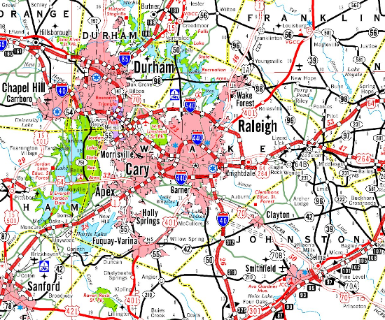 Updated Triangle Municipal Limits Map Raleigh Durham Chapel