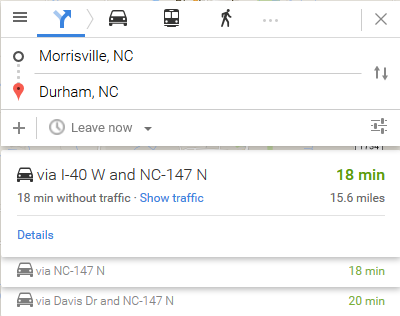 Avoiding Toll From Durham To Morrisville Chapel Hill Live Moving