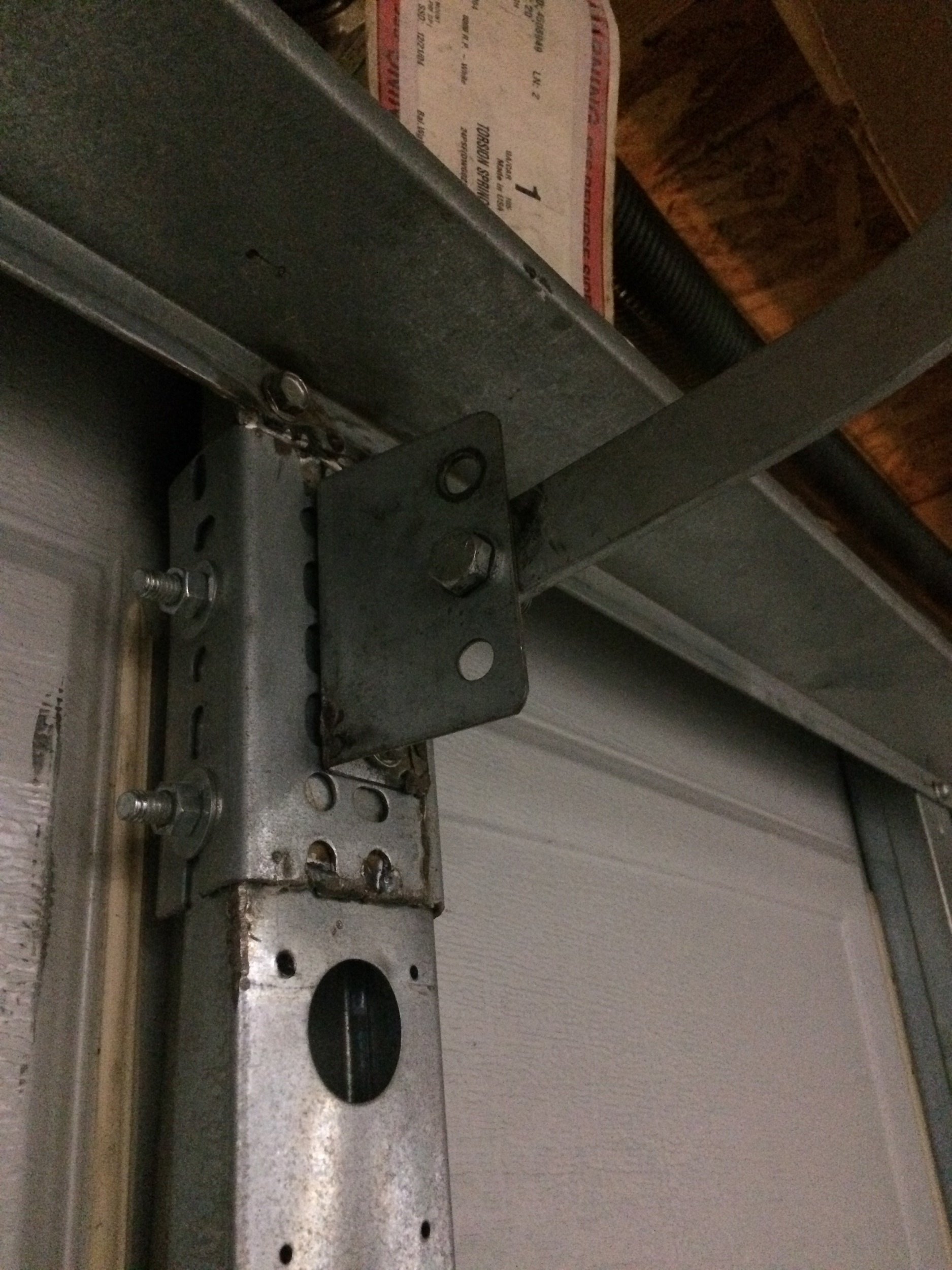 Broken garage door opener arm bracket-1.jpg ... : door arm - pezcame.com