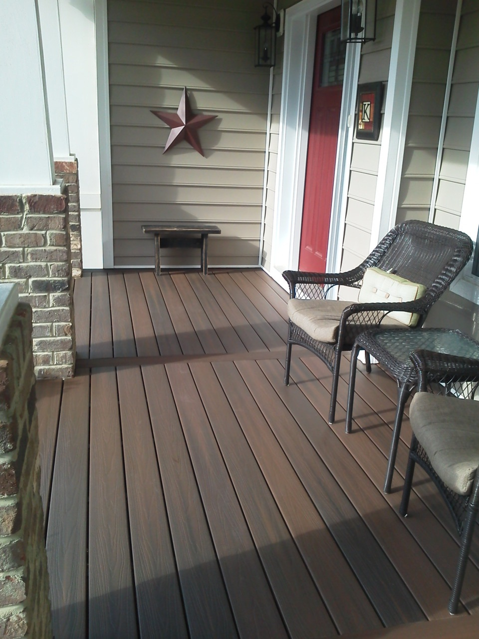 Decking materials composite porch decking material for Covered porch flooring options