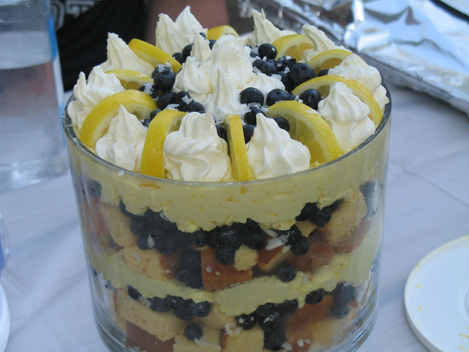 Lemon Blueberry Trifle With Pound Cake Pampered Chef