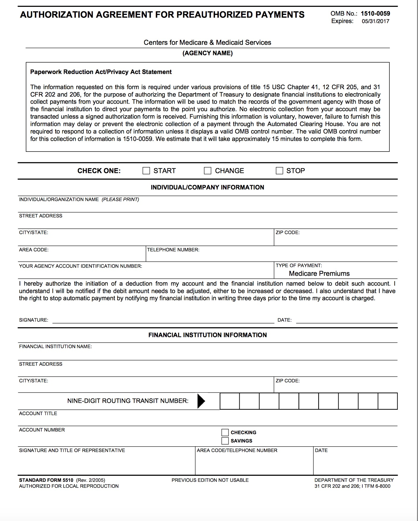Medicare Easy Pay Form 5510 Tekil Lessecretsdeparis Co