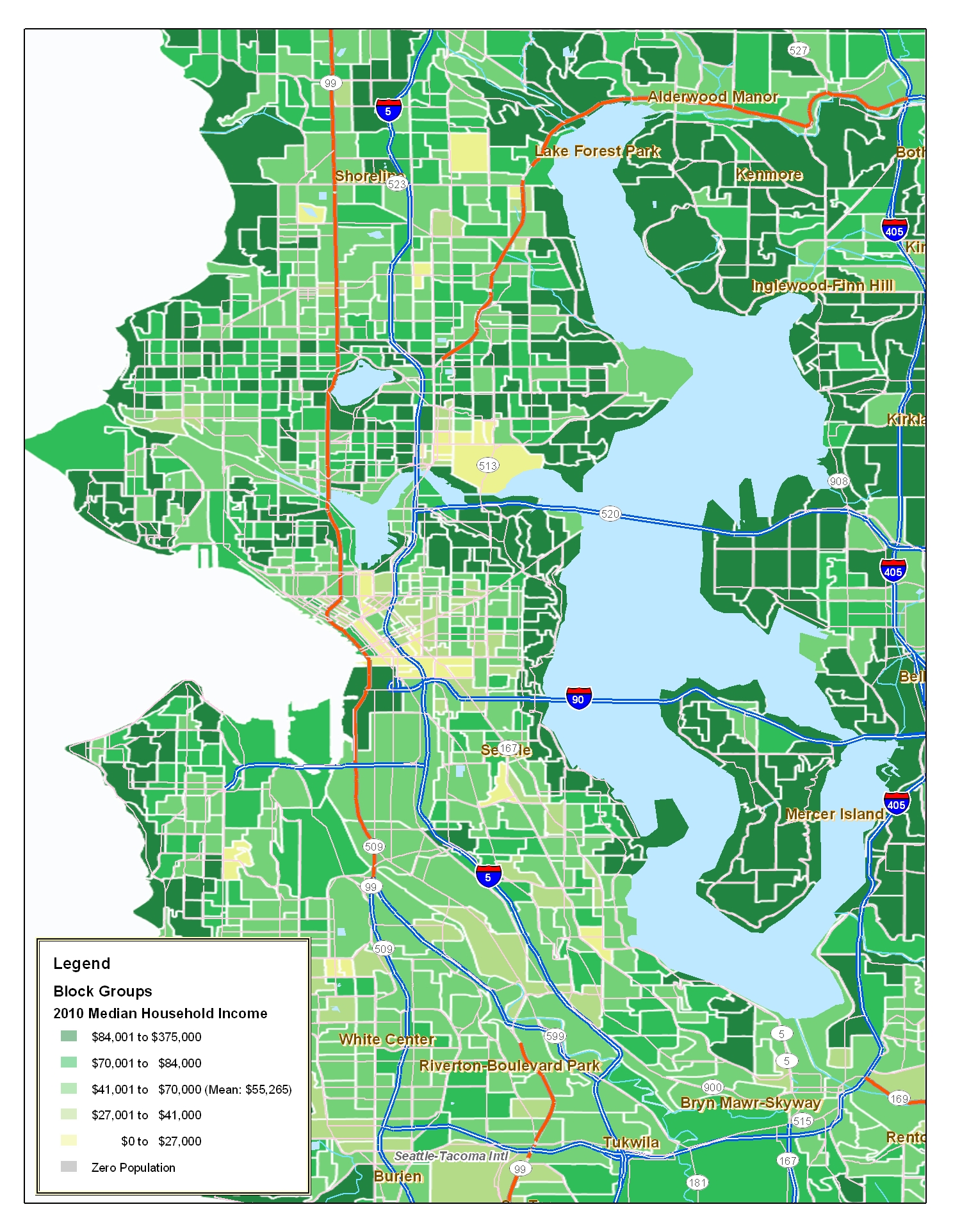 Is there a map of Seattle by price apartment neighborhoods