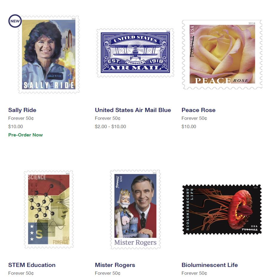USPS Stamp: Forever 50 cents (price, buy, used, cost