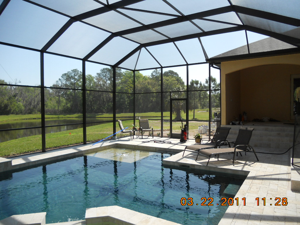 Pool enclosure screen types images for Pool enclosure design software