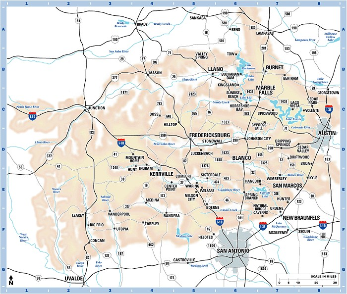 "Map Of Texas Cities Some Of The Cities I Ve: What Are Some Cities In The ""Hills County"", By/in The"