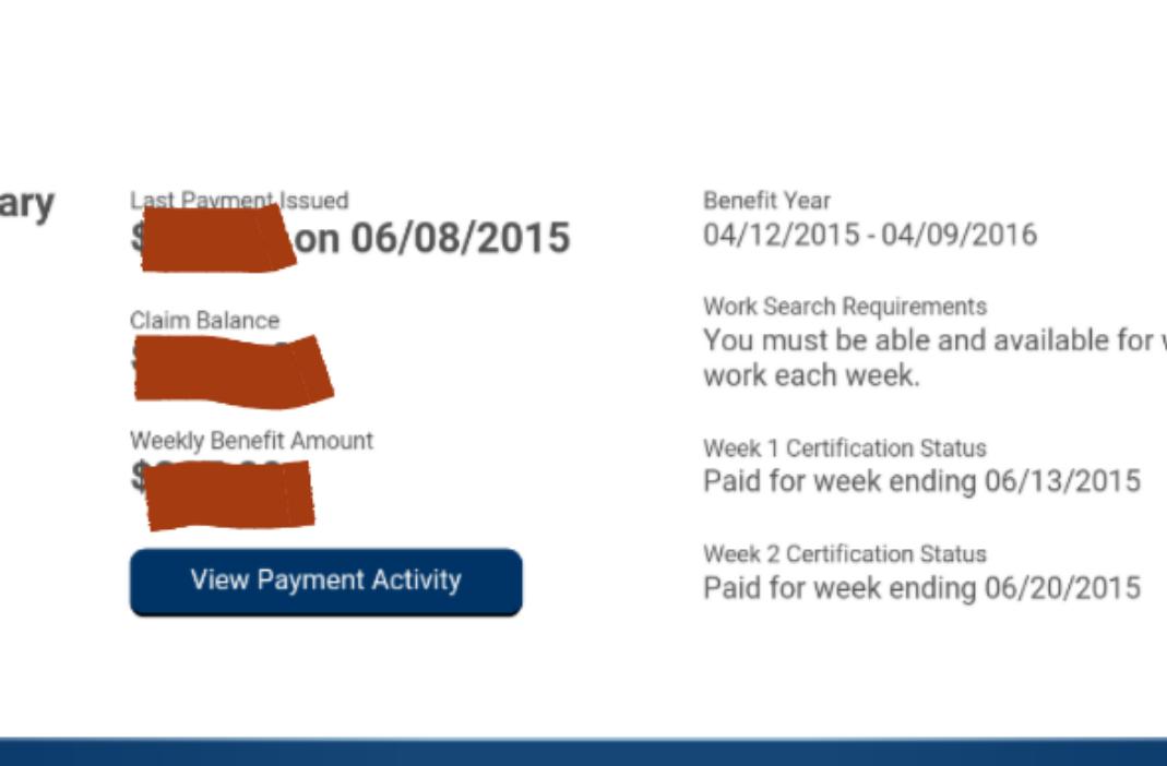 EDD - Haven\'t recived my payment. (receive, money, status ...