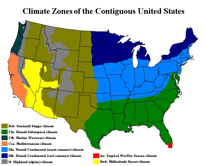 Us Koppen Climate Map: Koppen Climate Map United States At Usa Maps