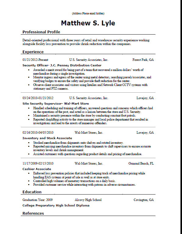 rate my resume and give feedback - job search