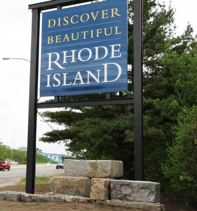 Welcome Rhode Island Road Sign