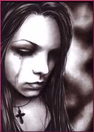 gothic  girl in tears !!!!!!