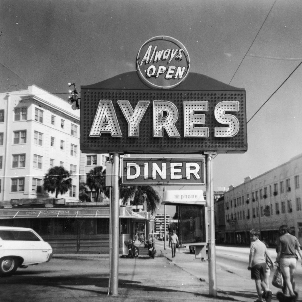 "1963-Ayres Diner on Grand Central-(now Kennedy Blvd). This was Tampa's most famous 1950s diner! This photo is among 200 in my new book ""Vintage Tampa Signs and Scenes"".  Everyone remembers this neat diner!"