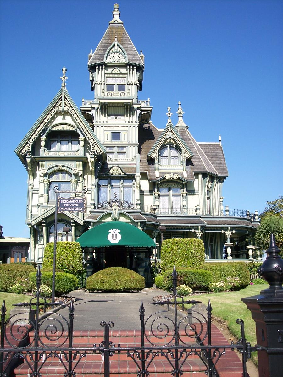 Old Victorian House The Ingomar Club ~ Eureka, Ca.